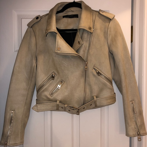 attractive colour really comfortable variety of designs and colors Zara Faux Suede Biker Jacket